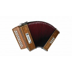 Accordéon Diatonique HOHNER CORONA II GCF Rouge