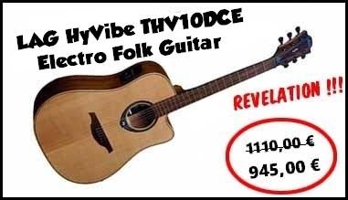 LAG HyVibe THV10DCE Electro Folk Guitar